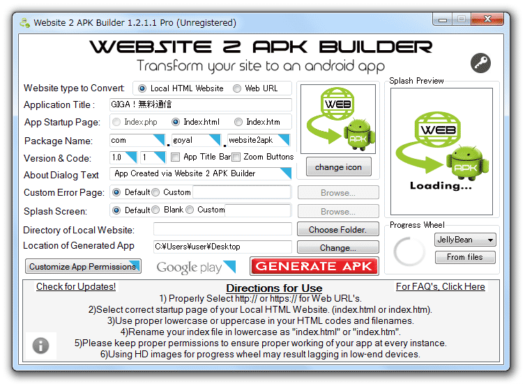Website 2 APK Builder Pro 2