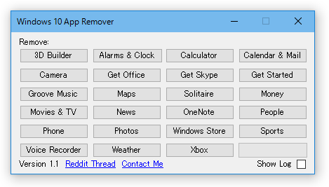 Windows 10 App Remover
