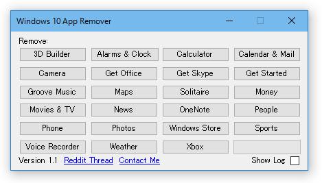 Windows 10 App Remover