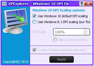 XPExplorer - Windows 10 DPI Fix
