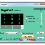 Synaptics 製のタッチパッドを、テンキー化してくれるソフト「DigiPad」