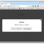 リンクになっているメールアドレスをクリックした時に、既定の動作を取るか、アドレスのコピーを行うだけにするか選択できるようにする Chrome 拡張「NoMailto」