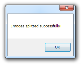 Images splitted successfully!