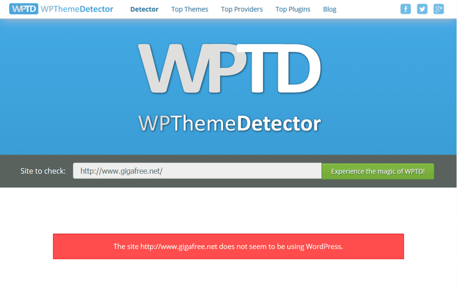 WordPress が使われていなかった場合