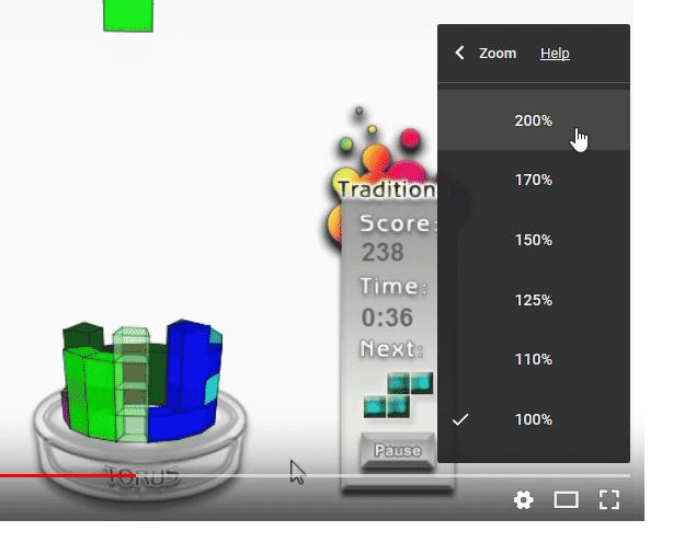 映像の表示倍率を指定する