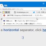 Google Chrome のブックマークアイテムを仕切ることができるセパレータ(区切り線)「Chrome Bookmarks Separator」