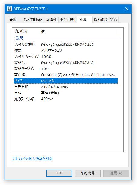 日本語の部分は文字化けする