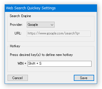 WebSearchQuickey