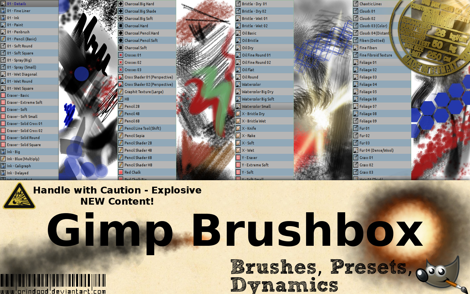 The Gimp BrushBox」「The Gimp TextureBox」