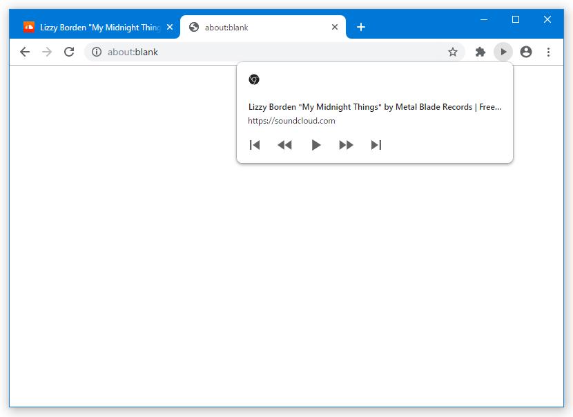 SoundCloud の場合、操作ボタンが少し多い