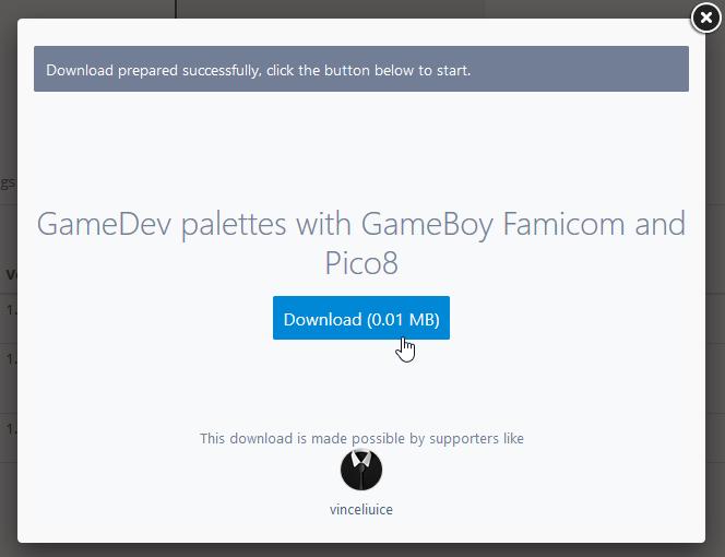 ダウンロードボタンをクリックするとポップアップが表示されるので、「Download」ボタンをクリックする