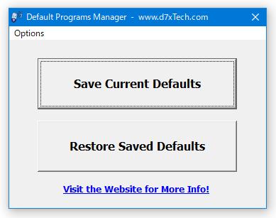 Default Programs Manager